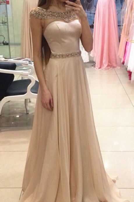 Prom Dress,Champagne Prom Gowns,sparkle Prom Dresses, Party Dresses,Long Prom Gown,Prom Dress,Evening Gown,Party Gown
