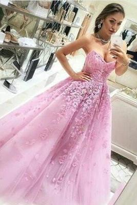 Wedding Dress,Modest Quinceanera Dress,Pink Applique Wedding Dresses,Ball Gown Wedding Dress,Sweetheart Bridal Dress,Fashion Prom Dress,Sexy Party Dress, New Style Evening Dress