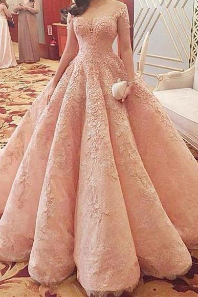 Wedding Dresses,2017 Wedding Gown,Lace Wedding Gowns,Bridal Dress,Wedding Dress,Brides Dress,Vintage Wedding Gowns,Wedding Dress Modest Quinceanera Dress,Pink Ball Gown,Applique Bridal Dresses,Fashion Prom Dress,Sexy Party Dress, New Style Evening Dress