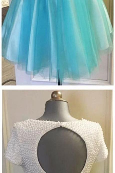 Beaded Homecomig Dress,Two Pieces Prom Dress,Mini Prom Dress,Fashion Homecomig Dresses,Sexy Party Dress, New Style Evening Dress