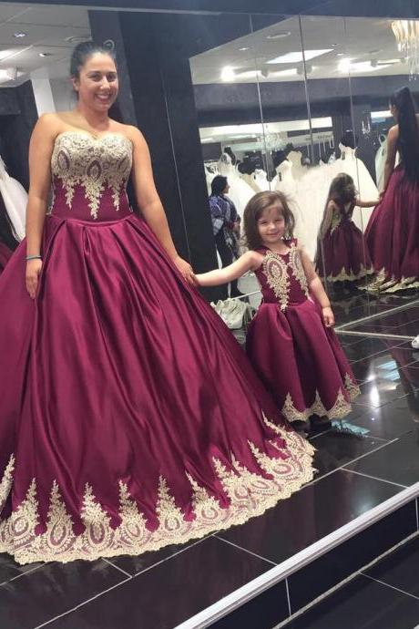 New Arrival Wedding Dress,Modest Prom Dress,burgundy wedding dress,wine red ball gowns,gold lace bridal dress,elegant wedding dress 2017