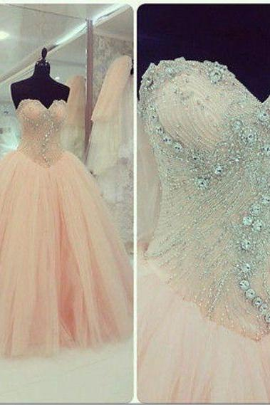 Wedding Dress,Sweetheart Ball Gown Wedding Dress,Beaded Wedding Dress,Illusion Prom Dress,Fashion Bridal Dress,Sexy Party Dress, New Style Evening Dresses