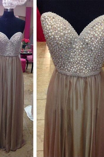 Elegant Long Prom Dress, Sweetheart Prom Dress, Beading Prom Dress, Modest Prom Dress, Formal Prom Dress, Evening Dress, Custom Made Prom Gowns