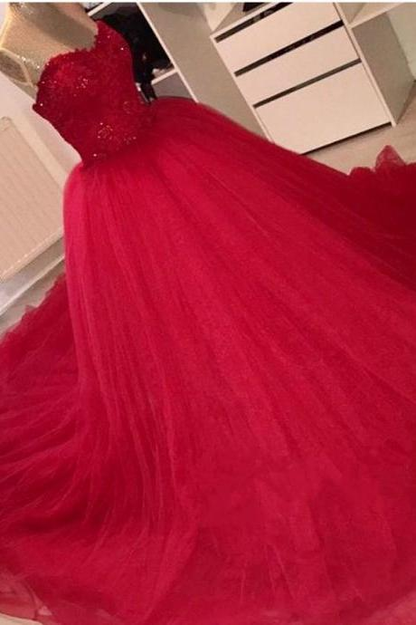 New Arrival Prom Dress,Modest Prom Dress,Sparkly red prom dress,ball gowns quinceanera dress,red prom dress,quinceanera dress