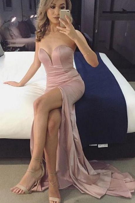 Prom Gown,Pink Prom Dresses,Evening Gowns,Mermaid Formal Dresses,Pink Prom Dresses ,Evening Gown,Sexy Prom Gown