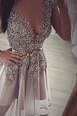 Homecoming Dress,Short Prom Gown,Grey Homecoming Gowns,Backless Party Dress,Sequined Prom Dresses,Homecoming Dress For Teens