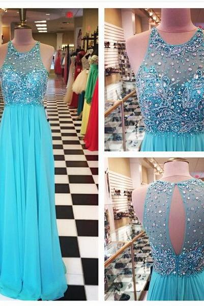 Blue Prom Dress,Chiffon Prom Gowns,Sparkle Prom Dresses,Long Party Dresses,Simple Prom Dress,Elegant Evening Gowns,Modest Prom Gowns,Beaded Bodice Evening Gowns