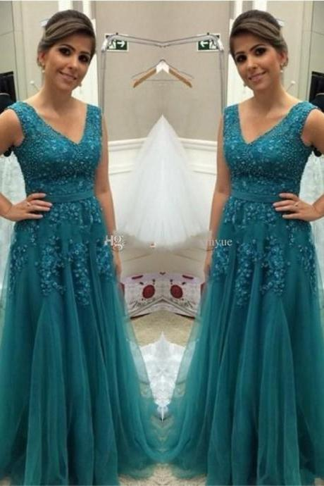 New Arrival Sleeveless Evening Dress,Appliques Evening Dress,Sexy Prom Dresses,Formal Gowns
