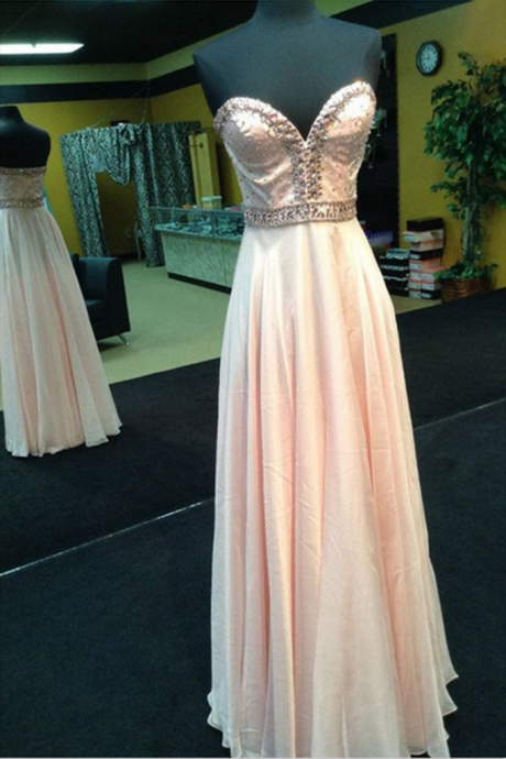 Sleeveless Prom Dress,Sexy Chiffon Evening Dresses,Long Prom Dresses,Formal Dress
