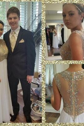 Custom Made A-Line Real Made Charming Prom Dress,Chiffon Formal Dresses,Evening Dresses On Sale