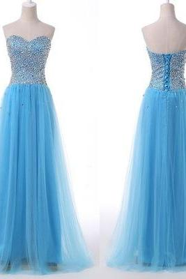 Sweetheart A-Line Charming Prom Dresses,Long Evening Dresses,Prom Dresses On Sale