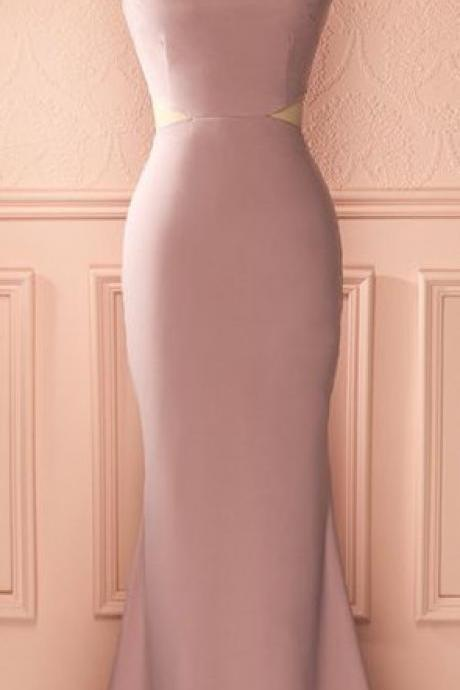 Dusty Rose Prom Dress,Mermaid Prom Dress,Midriff Prom Dress,Fashion Prom Dress,Sexy Party Dress, New Evening Dress