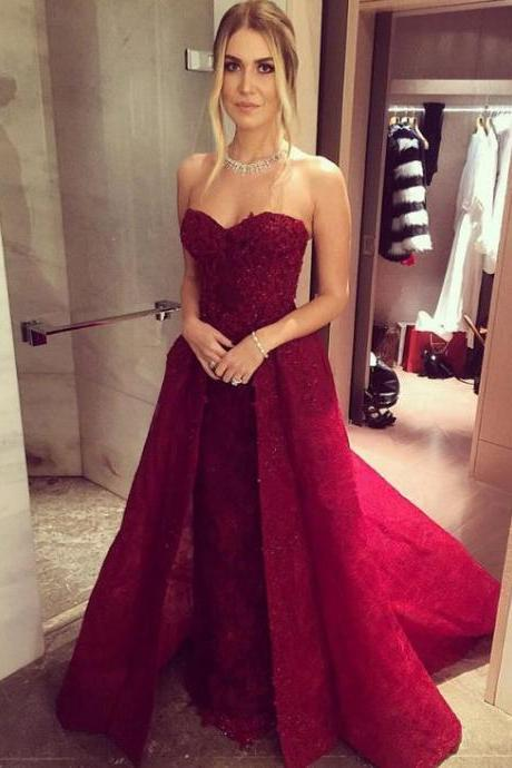 burgundy prom dress,long Prom Dress,sweetheart prom dress,A-line evening dress,charming evening gown ,Halter Sheath Prom Dress,Long Red Prom Dresses