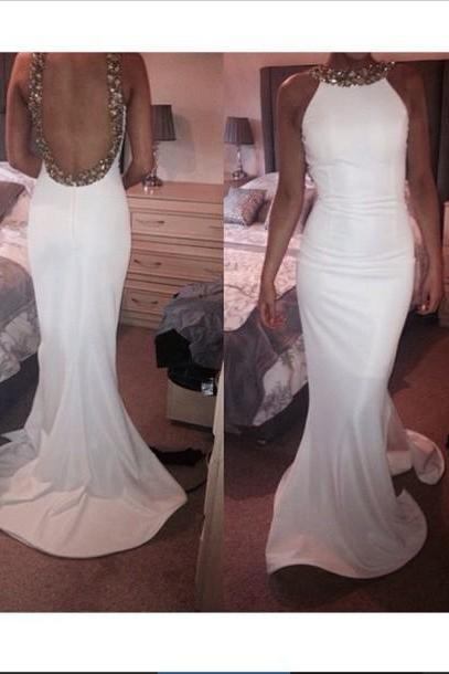 High Quality Prom Dress,Charming Prom Dress,Mermaid Evering Dress,Backless Prom Dress,Sequined Prom Dresses