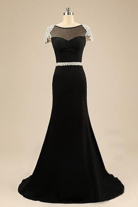 Black Prom Dresses,Backless Prom Dress,Chiffon Prom Dress,Mermaid Prom Dresses,Formal Gown,Open Back Evening Gowns,Open Backs Party Dress,Prom Gown For Teens