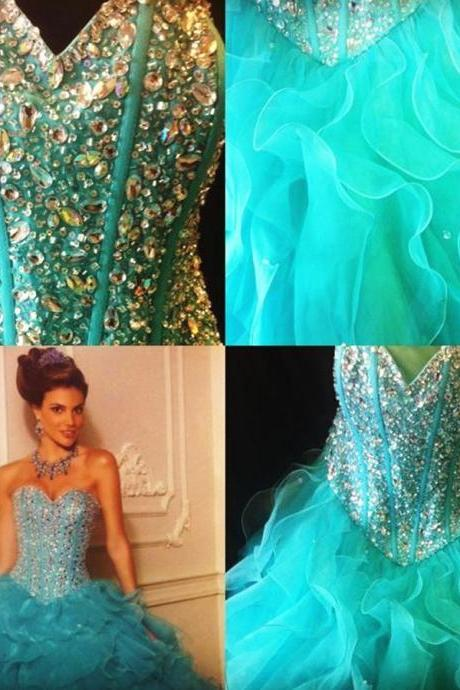 Gorgeous Quinceanera Dress,Beaded Quinceanera Dress,Custom Quinceanera Dress,Princess Long Quinceanera Dress,Modest Quinceanera Dress,Prom Dress,Green Quinceanera Dress,Ball Gown Quinceanera Dress