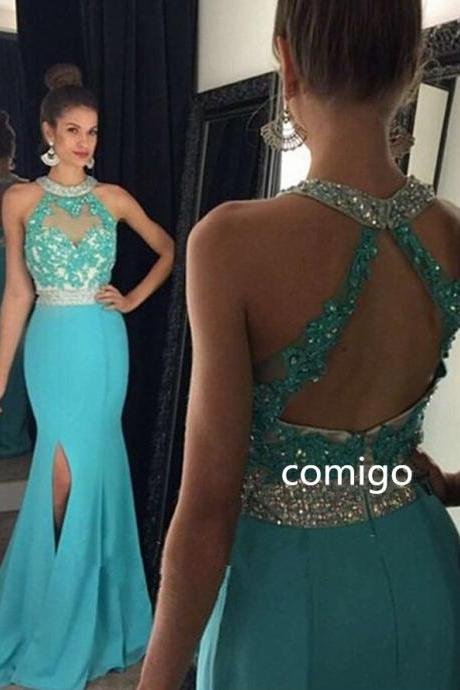 High Quality Prom Dress,A Line Prom Dresses,New Fashion Prom Dress,Beading Graduation Dress,Long Prom Dress,Custom Made Prom Dress,Chiffon Party Dress,Sexy See Through Evening Dress