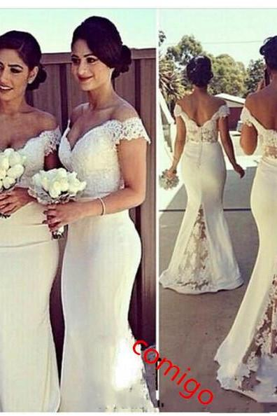 Lace Satin Wedding Dress Romantic Ivory Strapless Princess Bridal Gown Strapless White Lace A-Line WEDING DRESS Retro Lace Wedding Dress