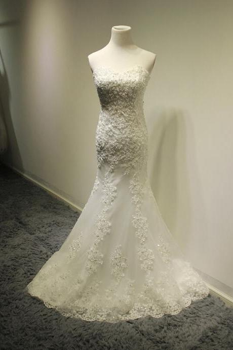 New Arrival Wedding Dress,White Long Mermaid Wedding Gown Bridal Dresses