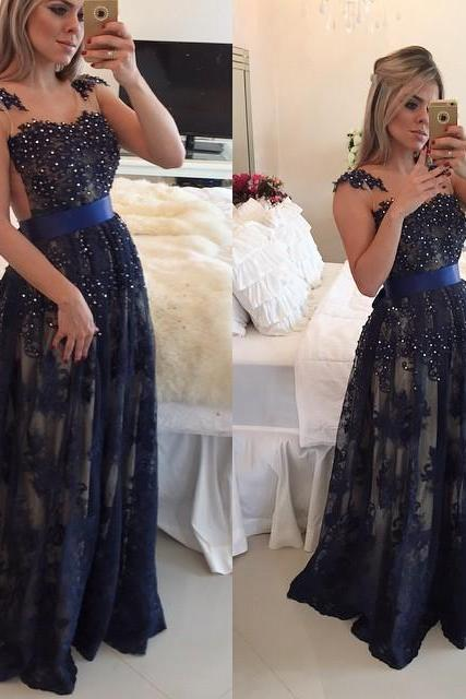 Elegant Prom Dress, Lace Evening Dress,Evening Dress,Beaded Evening Dress,Sexy Evening Dresses,Cheap Evening Dress,Dresses for Women