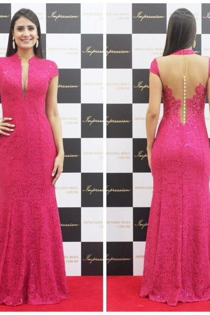 Charming Prom Dress,Lace Prom Dresses, Elegant Prom Dresses, Long Evening Gown,Formal Dress