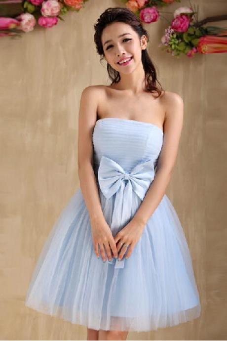 Tulle Homecoming Dress,Strapless Homecoming Dresses,Short Prom Dress,Prom Gown