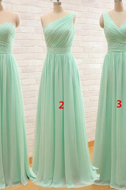 Simple Bridesmaid Dress,Elegant Bridesmaid Dresses,Green Wedding Party Dress