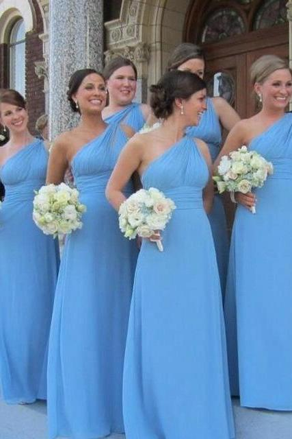 One Shoulder Bridesmaid Dress,Sexy Bridesmaid Dresses