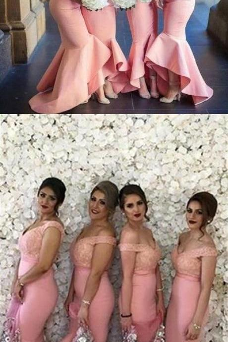 Off The Shoulder Bridesmaid Dress,Mermaid Prom Dress,Fashion Bridesmaid Dresses,Sexy Party Dress,Custom Made Evening Dress