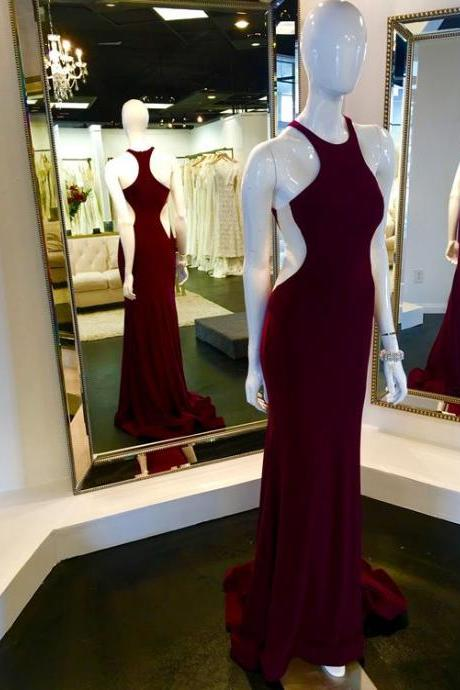 Wine Red Prom Dresses,Charming Evening Dress,Prom Gowns,Mermaid Prom Dresses,2017 New Prom Gown,Burgundy Evening Gown,Party Dresses
