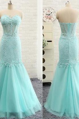 Charming Prom Dress,Beautiful Mermaid Prom Dresses,Long Evening Dress,Tulle Prom Dresses