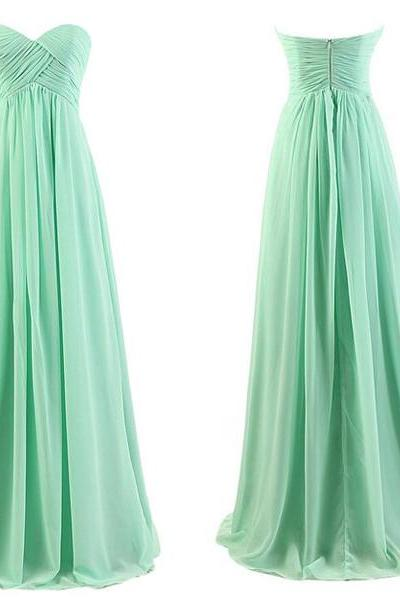 Empire Waist Sage Chiffon Long Bridesmaid Dresses,Custom Made Pregnant Bridesmaid Dresses ,Maternity Cheap Bridesmaid Dresses,A Line Ruffles Bridesmaid Gowns,Prom Dresses