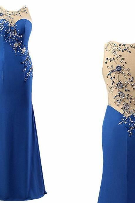 Sexy Prom Dress,High Quality Prom Dress,Beading Patterns Back Prom Dress,Mermaid Prom Dress,Satin Prom Dress,O-neck Prom Dress,Long Prom Dress