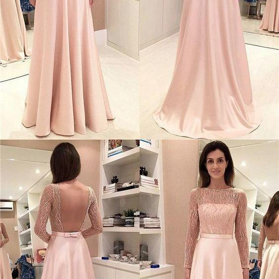 Elegant Pink Prom Dresses,A-Line Prom Gown, Sleeveless Evening Dresses,Chiffon Long Prom Dress with Lace,Prom Dress