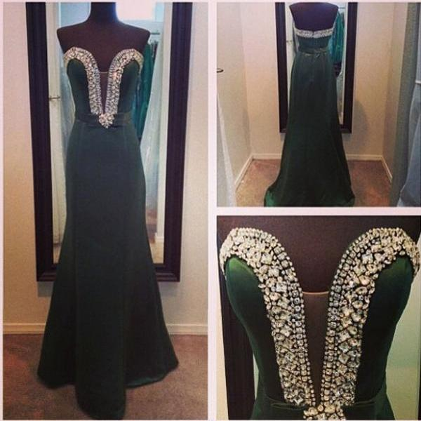 Long Prom Dress Green Prom Dress Sweet Heart Prom Dress Formal Prom Dress Chiffon Prom Dress Cheap Prom Dress